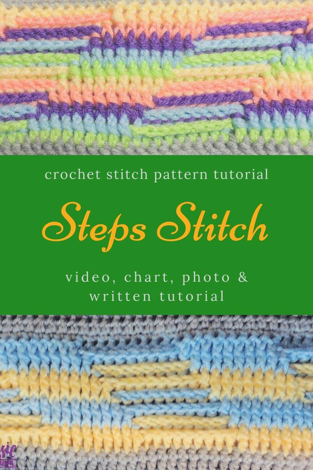 Step Up Your Crochet - Steps Stitch free tutorial