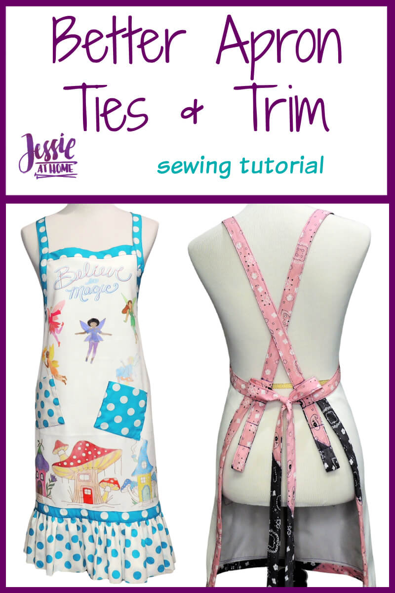 Better Apron Ties and Trim sewing tutorial by Jessie At Home - Pin 1