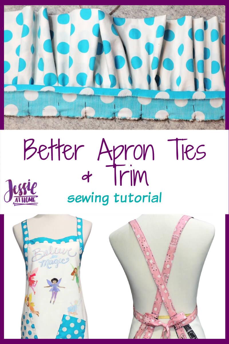 Better Apron Ties - plus super fun trim