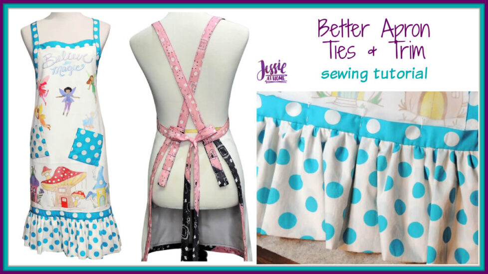Better Apron Ties and Trim sewing tutorial by Jessie At Home - Social