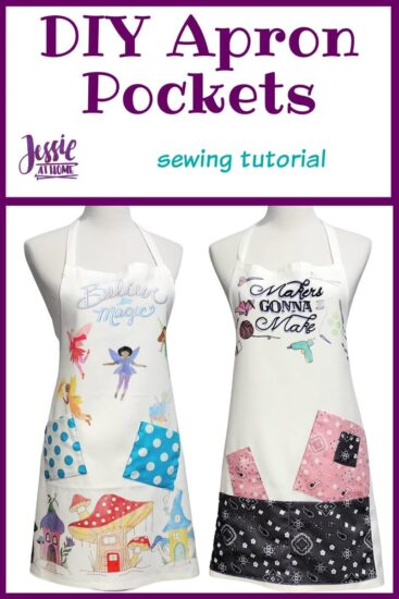 DIY Apron Pockets sewing tutorial by Jessie At Home - Pin 1