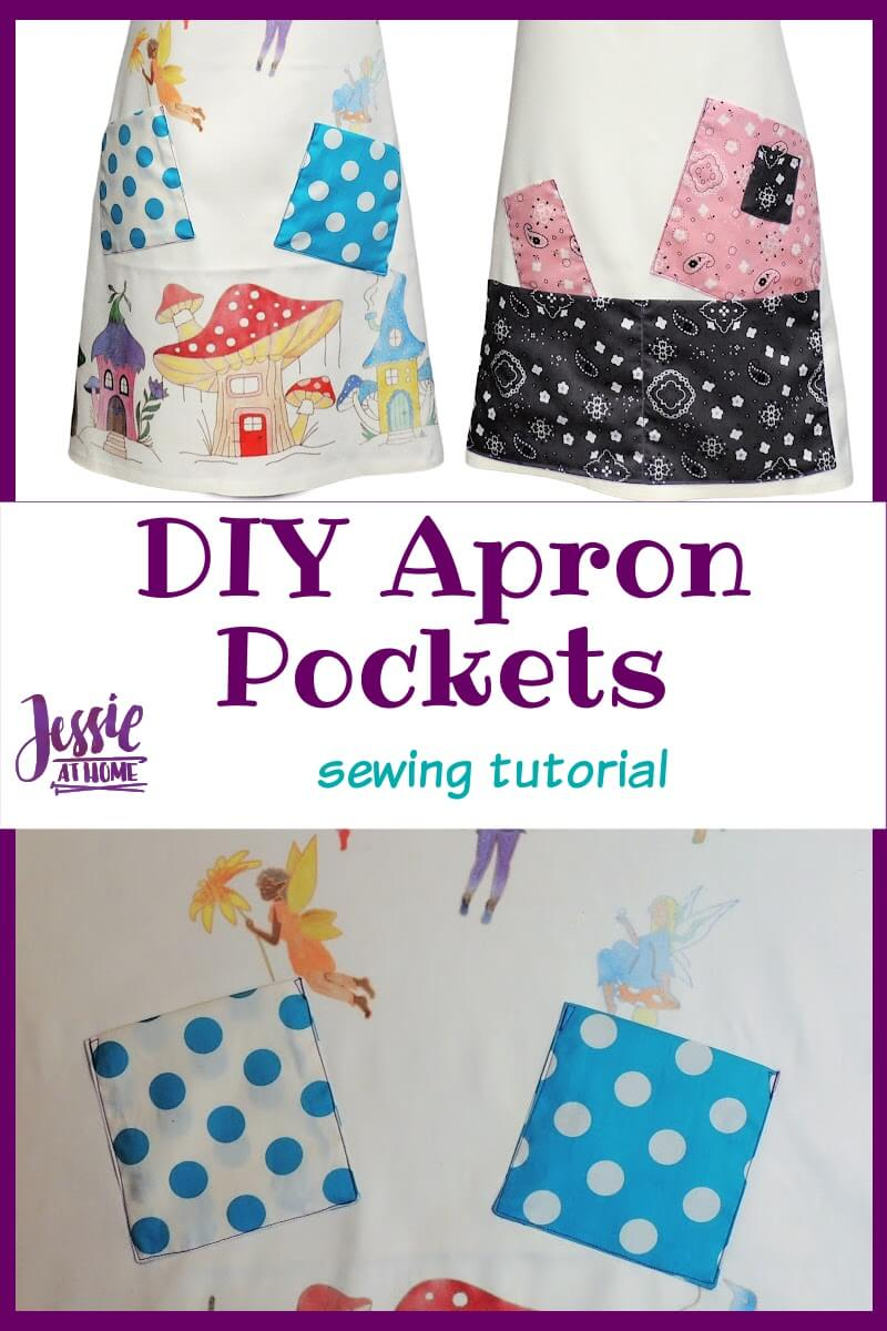 DIY Apron Pockets - because crafters love pockets