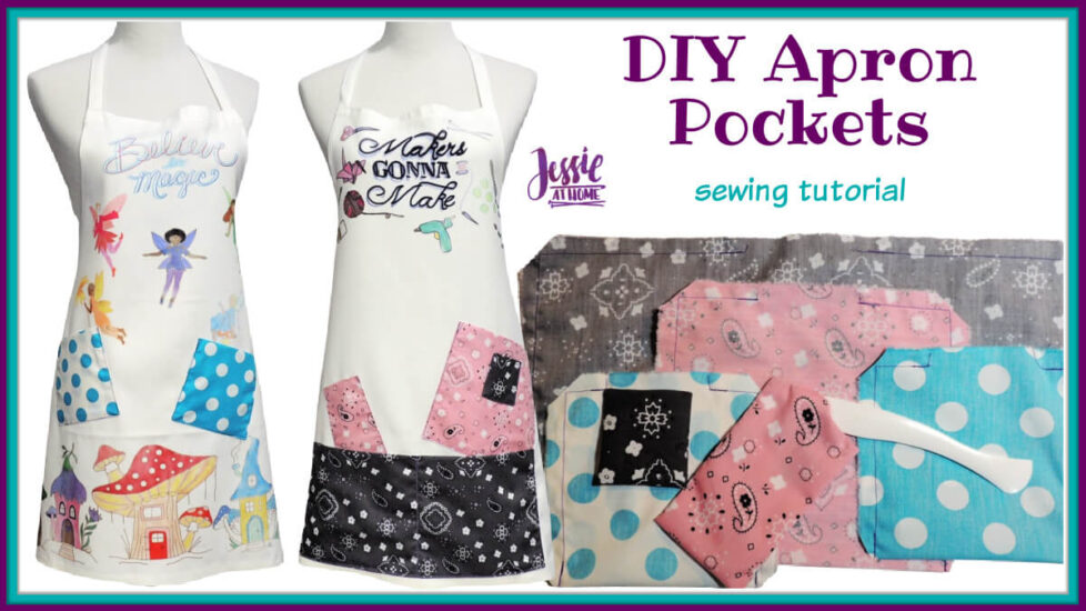 DIY Apron Pockets sewing tutorial by Jessie At Home - Social