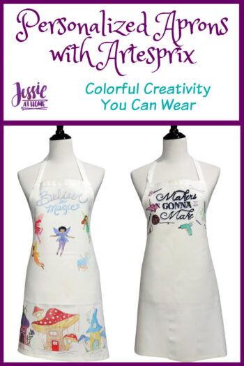 Personalized Aprons with Artesprix by Jessie At Home - Pin 1