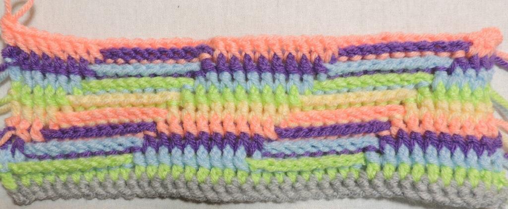 Steps Stitch Pattern - Row 10
