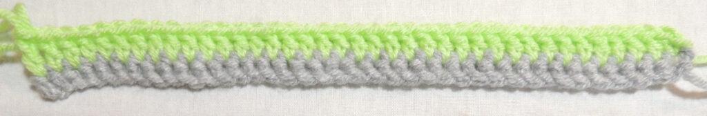 Steps Stitch Pattern - Row 2