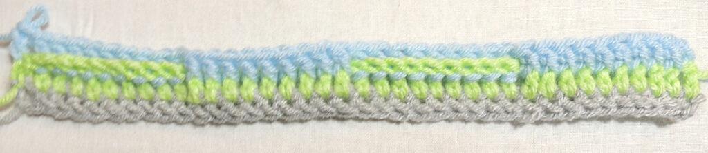 Steps Stitch Pattern - Row 3