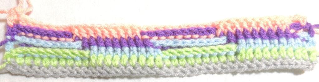 Steps Stitch Pattern - Row 5