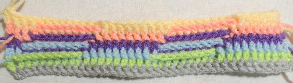 Steps Stitch Pattern - Row 6