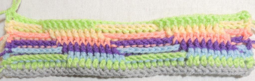 Steps Stitch Pattern - Row 7