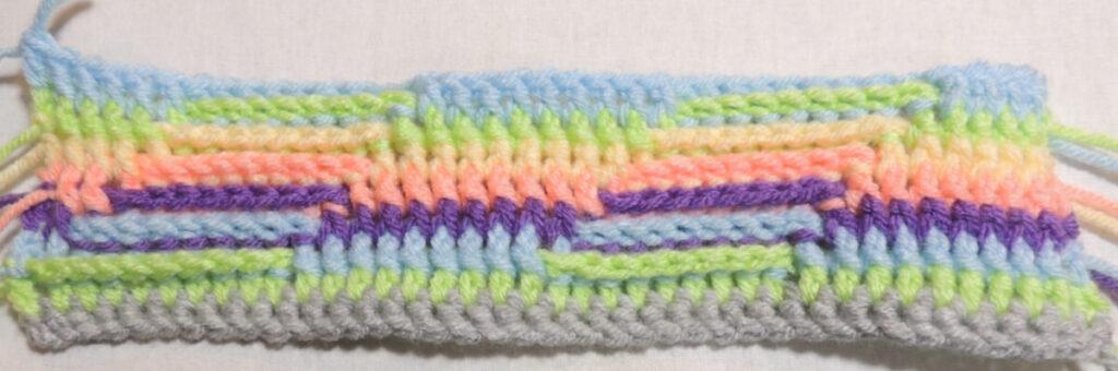 Steps Stitch Pattern - Row 8