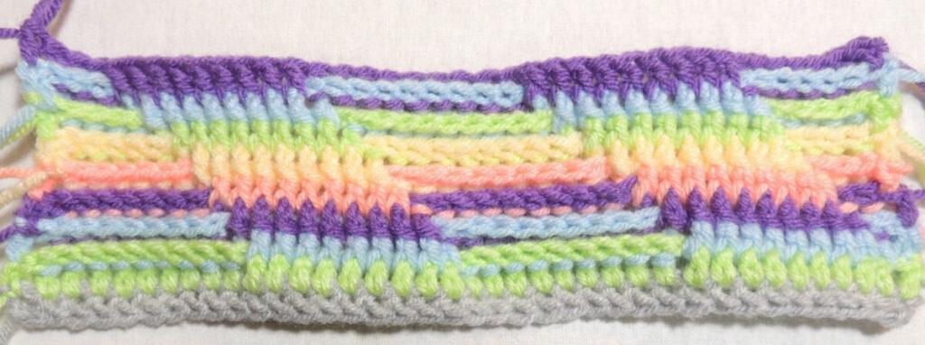 Steps Stitch Pattern - Row 9