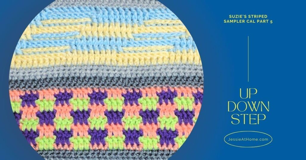 Up, Down, Step! Suzie's Striped Sampler CAL Part 5 by Jessie At Home - Social