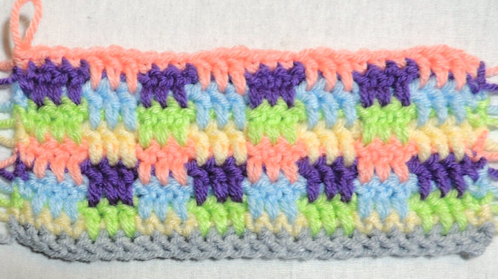 Up & Down Stitch - Finishing Row