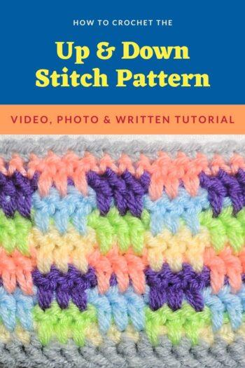Up & Down Stitch - Stitchopedia Crochet Video Tutorial by Jessie At Home - Pin 3
