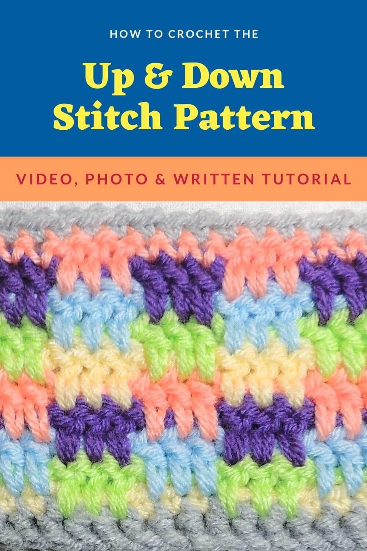 Up & Down Stitch – free crochet stitch pattern tutorial with video