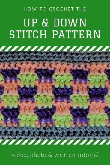 Up & Down Stitch - Stitchopedia Crochet Video Tutorial by Jessie At Home - Pin 2
