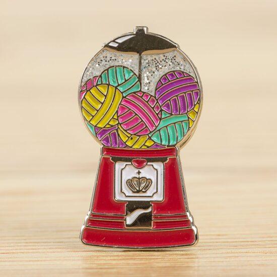 WeCrochet Enamel Pin - Magic Yarnball Machine