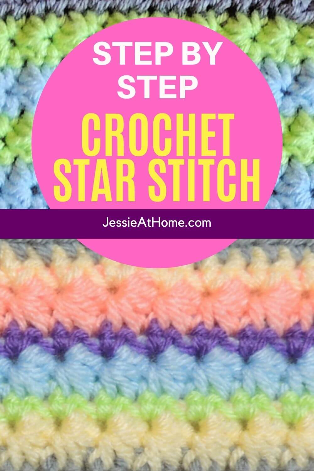 How To Crochet the Beautiful and Unique Crochet Star Stitch