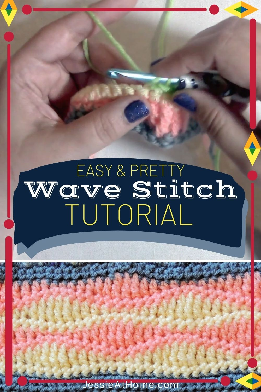 Looking for an Easy Pretty Crochet Stitch – Do the Wave!