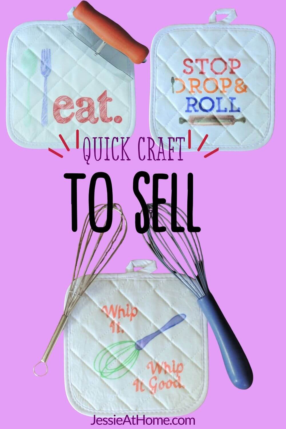 DIY Custom Pot Holders – Easy, No-Sew, and Sure To Please